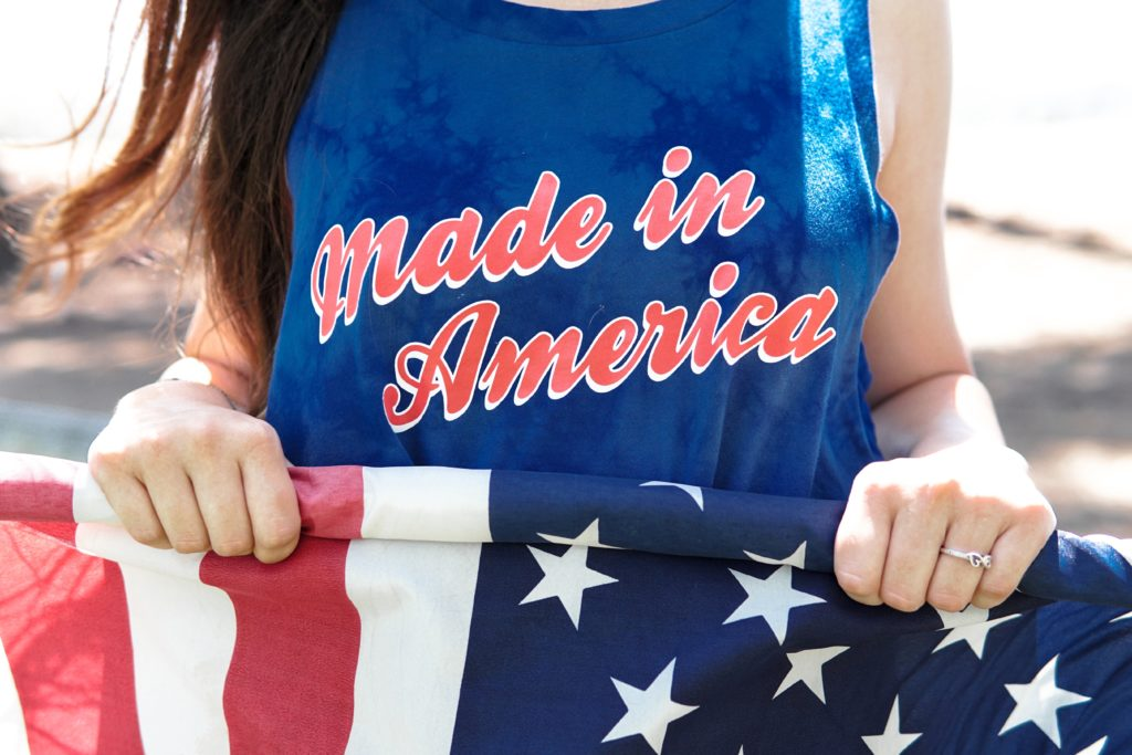 made in america tshirt und flagge